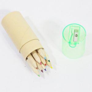 Farbičky v kartónovej tube so strúhadlom - 12 ks