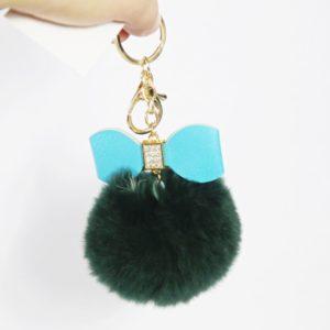 Plyšová kľúčenka – červená s mašličkou. Milá na dotyk. Vhodná na kľúče či ako doplnok na kabelku alebo batoh.