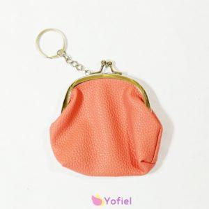 Ružová kľúčenka - peňaženka na mince.