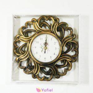 Krásne dekoračné nástenné vintage hodiny na baterky. Ozdobia obývačku či kanceláriu. Starožitný vintage vzhľad.