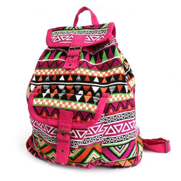 etno boho ružový batoh