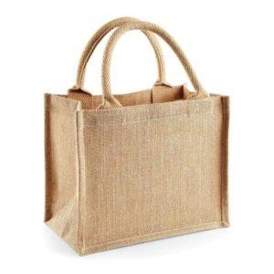 Nákupná jutová taška so zlatými odleaskami. Vhodná na veľké nákupy. Udrží väčšie váhy nákupu.