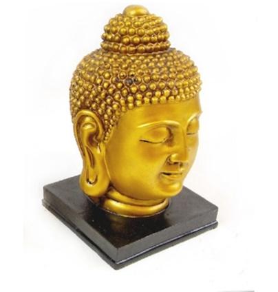 Busta Budha zlatá je krásna dekorácia do bytu pre každého milovníka východnej kultúry a jógy