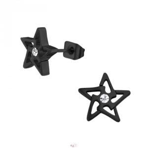 Hviezdy náušnice z chirurgickej ocele