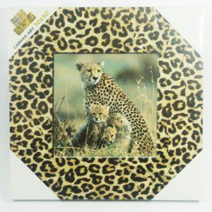Obraz Afrika Gepard a mláďata 30x30 cm Digitálna potlač, drevený rám