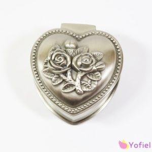 Kovová šperkovnica Srdce Nádherná kvalitná šperkovnica na vzácne šperky alebo obrúčky