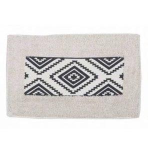 Koberček do kúpeľne AZTEC Príjemný bavlnený koberček do kúpeľne s aztéckym vzorom. Rozmery: 70 x 40 cm Materiál: 100% bavlna