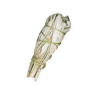 Vykurovadlo biela šalvia - vykurovací zväzok 10 cm vydymovadlo na očistenie priestorov od negatívnej energie, entít, duchov a očistu osôb.