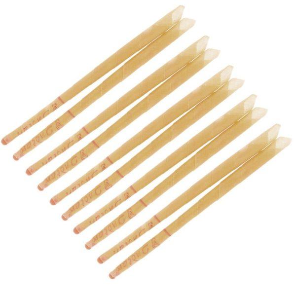 Ušná Sviečka Bez Vône - Natural Tieto ušné sviečky sú vyrobené z nebielenej prírodnej bavlny a včelieho vosku a sú ideálne pre profesionálne kúpele alebo na aromaterapiu.