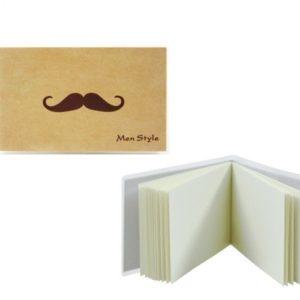 Pánsky mini poznámkový blok MEN STYLE vintage s plastovým ochranným obalom.