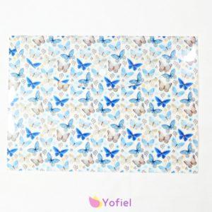 Plastový obal/obálka Modré Motýle A4 Táto plastová obálka je vhodná na uskladnenie a prenos rôznych dokumentov.