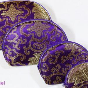 Orientálne kozmetické taštičky – sada 5 kusov – fialové Kozmetické taštičky s orientálnym vzorom. Krásna farba.