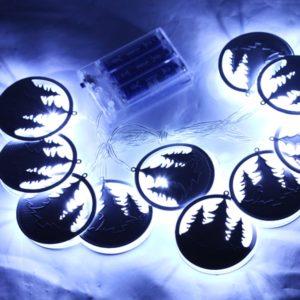 Dekoračná LED svetelná reťaz na baterky - LES - STROMY