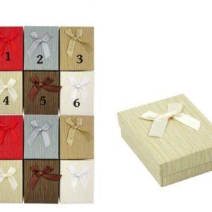 Darčeková krabička na šperky s mašličkou v 6 farbách Vhodná na všetky druhy šperkov