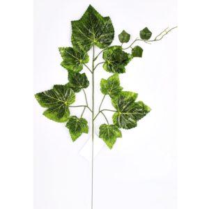 Umelá vetva Hrozno 2 ks v balení vhodná na aranžovanie a dekorovanie 1 vetva má 13 listov a výšku 56 cm