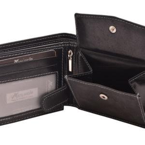 Pánska kožená peňaženka MERCUCIO z kvalitnej kože. Obľúbený model pre každého, bez rozdielu veku. Mnoho priečinkov na všetko potrebné.