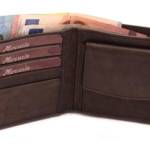 Pánska kožená peňaženka MERCUCIO z lícovej kože.