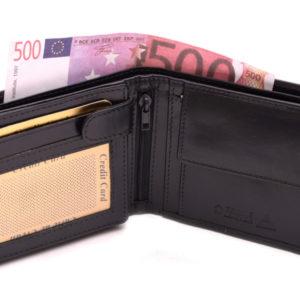 Pánska kožená peňaženka z kvalitnej kože - tmavomodrá. Obľúbený model pre každého bez rozdielu veku. Mnoho priečinkov na všetko potrebné.