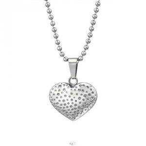 Srdce náhrdelník z chirurgickej ocele