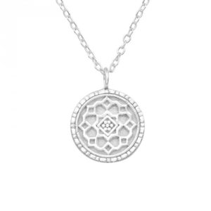Mandala strieborný prívesok a náhrdelník
