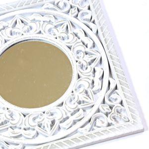 Zrkadlo Mandala v drevenom vyrezávanom ráme