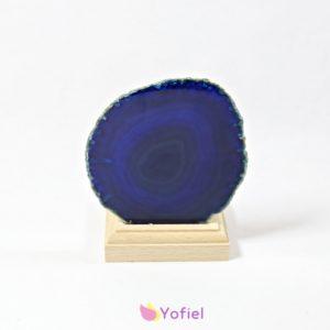 Achátový svietnik plátok modrý na čajové sviečky - 1 ks sviečky v balení Účinky: Achát lieči negatívne emócie, pomáha prekonať strach, zvyšuje sebavedomie.