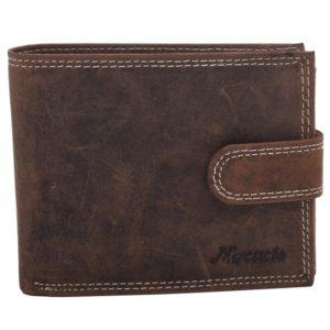 Pánska kožená peňaženka Mercucio - hnedá z prírodnej kože. Obľúbený model pre každého bez rozdielu veku. Mnoho priečinkov na všetko potrebné.