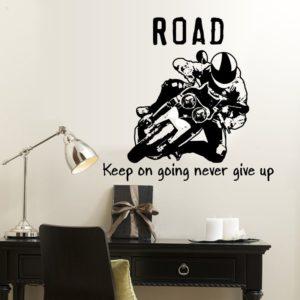 Dekoračná nálepka na stenu Motocykel