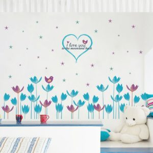 Dekoračná nálepka na stenu Kvety - Láska