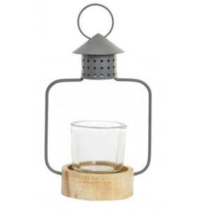 Svietnik - lampáš sivý Svietnik je vhodný na čajovú sviečku. Nádherne pôsobí v obývačke alebo aj na chalupe.