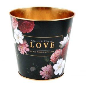 Plechový obal na kvetináč Flover Elegant Nádherná nádoba do interiéru, ktorá je nielen praktická ale aj dizajnovo skusná.