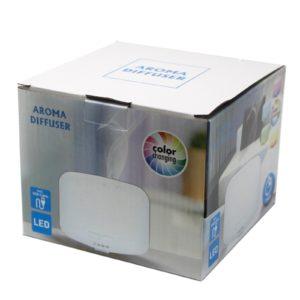 Elektrický aroma difuzér meniaci farby USB využíva ultrazvukové vlny na okamžité odparenie vody a éterického oleja v nádrži, na vytvorenie voňavej hmly.