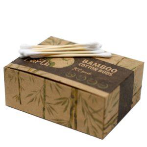 Bambusové Vatové Tyčinky 200 ks vyrobené z organickej bavlny- súbiologicky odbúrateľné - hypoalergénne - nižšie riziko vzniku podráždenia