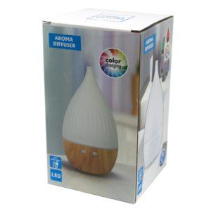 Elektronický aroma difuzér Miláno na USB - mení farby využíva ultrazvukové vlny na okamžité odparenie vody a éterického oleja v nádrži...