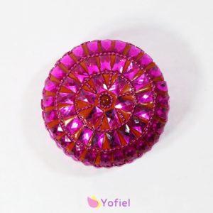 Orientálna plechová krabička šperkovnica ružová Žiarivá krabička spestrí svojou farbou a odleskami každú miestnosť.Materiál: plech, plast
