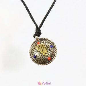 ETNO tibetský kovový náhrdelník