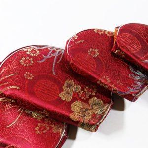 Orientálne kozmetické taštičky – sada 5 kusov - bordové Kozmetické taštičky s orientálnym etno boho vzorom. Krásna farba a vzory.