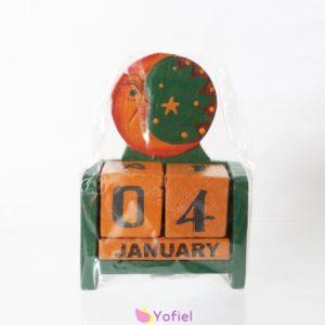 Drevený večný kalendár - Mesiac Kalendár, ktorý vám poslúži aj celý život. Otáčaním drevených kociek si nastavíte aktuálny dátum - deň a mesiac.