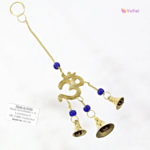 Ochranná mosadzná zvonkohra ÓM V hinduizme je Óm považovaný za posvätný zvuk. Používa sa v meditácii. Ochranný symbol pred negatívnou energiou.