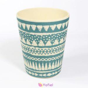 Bambusový vzorovaný pohár Boho v 2 variatoch Objem: 2,5 dl Materiál: bambus