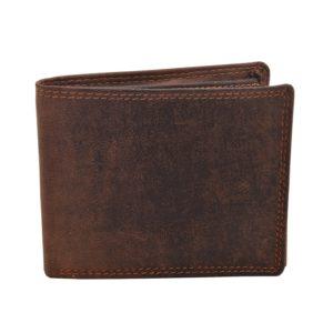 Pánska kožená peňaženka MERCUCIOPeňaženka tmavohnedej farby z kvalitnej kože. Vhodná pre akéhokoľvek muža.Materiál: pravá hovädzia koža