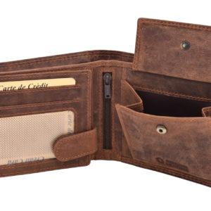 JELEŇ pánska kožená peňaženka MERCUCIO Peňaženka nie len pre poľovníkov ale aj milovníkov prírody a zvierat.Materiál: pravá hovädzia koža