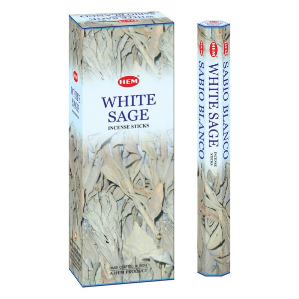 HEM vonné tyčinky – Biela šalvia 20 ks Tradičné vonné tyčinky vyrobené v Indii krásne prevoňajú každý priestor. Jednoducho zapáľte špičku tyčinky