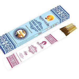 Ajurvédske vonné tyčinky - antistresové Tieto tyčinky sú ručne šúľané a vyrobené na čisto 100 % prírodnej báze.Po zapálení na vás bude vôňa pôsobiť...