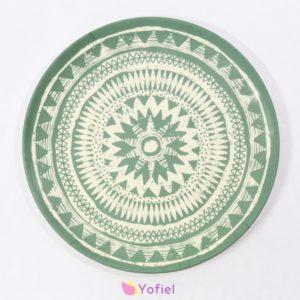 Bambusová vzorovaná tácka - tanier boho Tácka vyrobená z bambusu je skvelým doplnkom do vašej kuchyne.