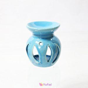 Aromalampa modrá Keramická aroma lampa je skvelá pre použitie s vonnými olejmi alebo vonnými voskami. Pôsobí tiež ako atraktívna dekorácia