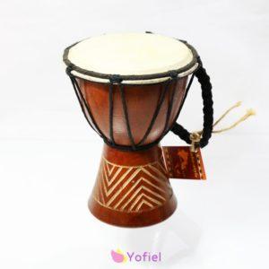 Bubon Djembe mini Djembe - etnický hudobný nástroj vyrobený z mahagónového dreva a pravej kože.