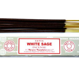 SATYA vonné tyčinky Biela šalvia kvalitné vonné tyčinky Šalvia je dnes najznámejšie očistné vykurovadlo. Používa sa najmä na očistu priestorov a osôb.