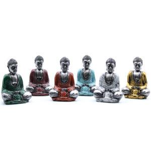 Budha sediaci - soška Soška Budhu ručne maľovaná remeselníkmi na Bali. Na výber zo 6 fariených variantov.