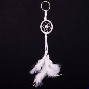 Prívesok na kľúče Lapač snov Kľúčenka lapač snov bielej farby